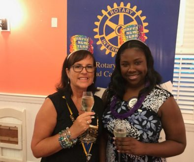 President Susie Bodden, President with Club Secretary Johnae Moss